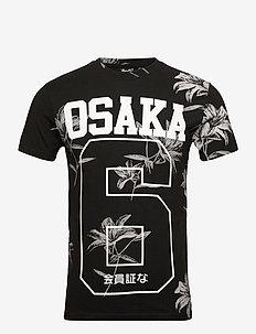 SUPER 5'S TEE - short-sleeved t-shirts - venice flower black