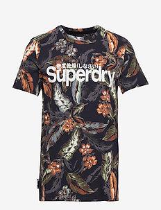 SUPER 5'S TEE - logo t-shirts - indo leaf navy