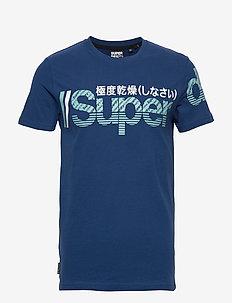 CORE SPLIT LOGO TEE - logo t-shirts - pilot mid blue
