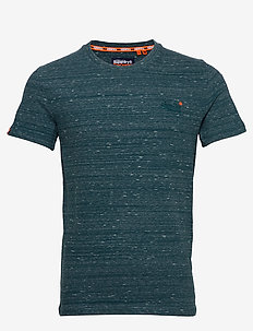 Ol Vintage Embroidery Tee - basic t-shirts - deep teal space dye