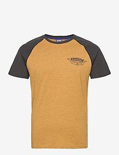 Speedway Raglan Tee - basic t-shirts - dark sulphur yellow marl