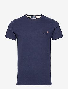 OL VINTAGE EMB TEE NS - basis-t-skjorter - rich navy