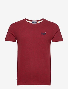 OL VINTAGE EMB TEE - basic t-shirts - rich red grit