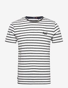 OL STRIPE TEE - korte mouwen - black grit stripe