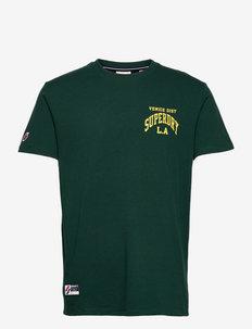 VARSITY ARCH MINI TEE - basic t-shirts - enamel green