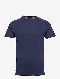 Vintage Logo Emb Tee - basic t-shirts - rich navy navy