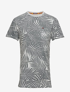 WHISTLER GEO TEE - short-sleeved t-shirts - washed grey