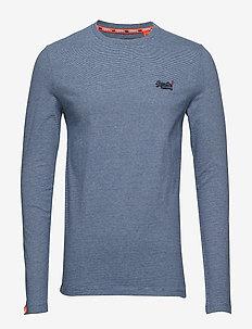ORANGE LABEL VINTAGE EMBROIDERY L/S TEE - langermede t-skjorter - navy blue feeder