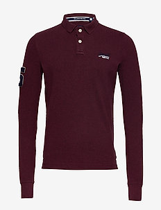 CLASSIC L/S PIQUE POLO - long-sleeved - boston burgundy marl