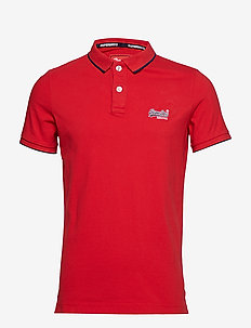 HYPER CLASSIC PIQUE POLO - FIERY RED