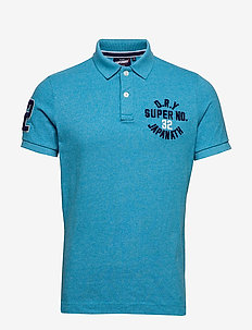 Classic Superstate S/S Polo - kortermede - electric blue grit