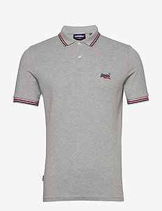 CLASSIC MICRO LITE TIPPED S/S POLO - short-sleeved polos - grey marl