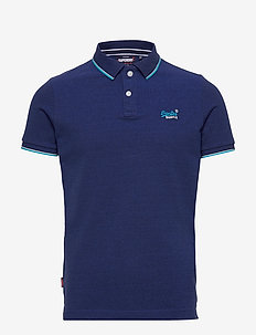 POOLSIDE PIQUE S/S POLO - short-sleeved polos - eclipse navy
