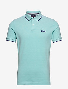 POOLSIDE PIQUE S/S POLO - short-sleeved polos - spearmint grit