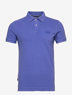 VINTAGE DESTROYED S/S PIQUE POLO - kortermede - palma purple