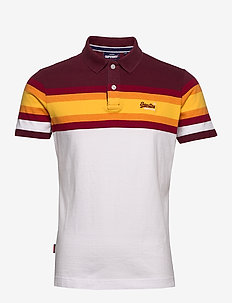 MALIBU STRIPE POLO - kortermede - yellow stripe