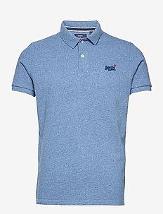 S/S CLASSIC PIQUE POLO - kurzärmelig - bright blue grit