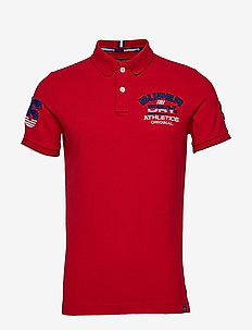 SUPERSTATE CHAMPION POLO - HYPE RED