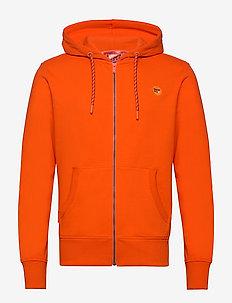 COLLECTIVE ZIP HOOD - perus-college-paitoja - denver orange