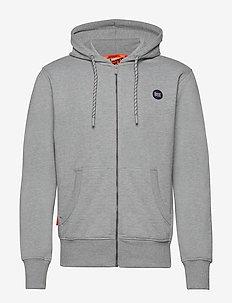 COLLECTIVE ZIP HOOD - basic sweatshirts - grey marl