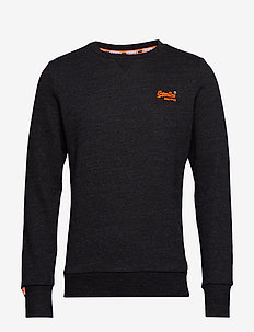 ORANGE LABEL CREW SWEAT - NIGHT SHADE BLACK MARL