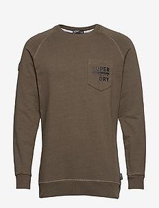 SURPLUS GOODS GRAPHIC CREW - sweatshirts - deep olive