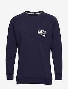 SURPLUS GOODS GRAPHIC CREW - sweatshirts - rich navy