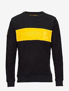 POLAR FLEECE EMBOSSED CREW - sweatshirts - black