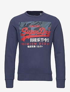 VL CAMO CREW - sweatshirts - desert navy