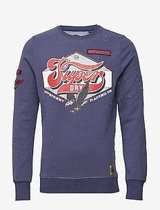 CUSTOM 1334 CREW - sweatshirts - biker navy