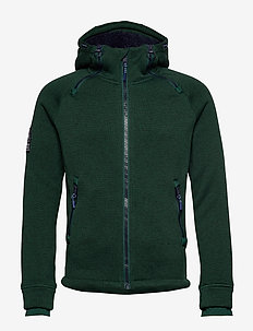 STORM DOUBLE ZIPHOOD - perus-college-paitoja - forest green marl