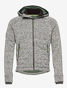 STORM QUILTED ZIPHOOD - GREY GRANITE MARL
