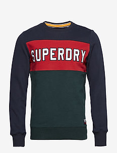 ACADEMY COLOUR BLOCK CREW - swetry - navy/red/green