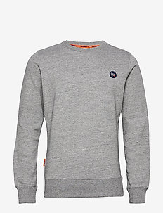Collective Crew Ub - basic gebreide truien - collective dark grey grit