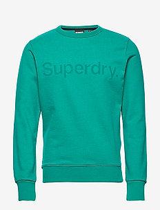 CORE LOGO FAUX SUEDE CREW UB - basic-sweatshirts - lapis