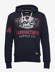 HERITAGE CLASSIC LITE HOOD - hoodies - academy navy