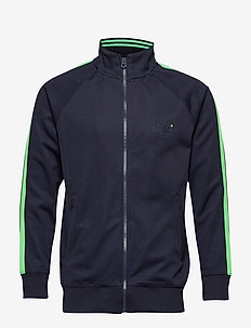 LINEMAN SLIM FIT TRACK TOP - TRACK NAVY/LIME
