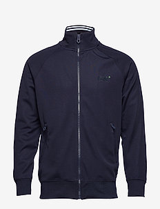 LINEMAN SLIM FIT TRACK TOP - track jackets - track navy/optic