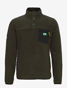 B TRAIL POLAR FLEECE POP OVER - basic-sweatshirts - surplus goods olive