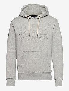 VL EMBOSS HOOD BB - hoodies - light grey marl