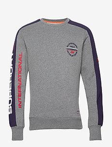 TROPHY TRI COLOUR CREW - sweatshirts - dark trophy grey marl