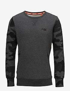 ORANGE LABEL URBAN CREW - sweatshirts - black/urban camo