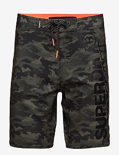 DEEP WATER BOARD SHORT - szorty kąpielowe - khaki camo aop