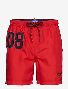 WATER POLO SWIM SHORT - swim shorts - flag red