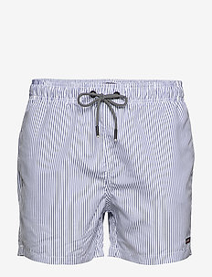 EDIT SWIM SHORT - BLUE STRIPE