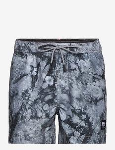 TIE-DYE VOLLEY SWIM SHORT - swim shorts - grey tie dye
