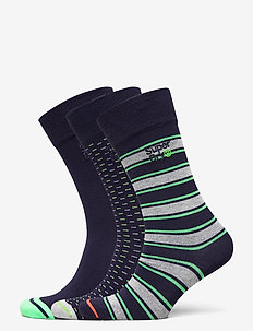 CITY SOCK TRIPLE PACK - reguläre strümpfe - textured triple