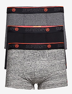 O.L SPORT TRUNK TRIPLE PACK - BLACK/BLACK FEEDER/FLINT GREY GRIT
