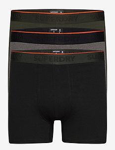 CLASSIC BOXER TRIPLE - boxershortser - black/darkest charcoal marl/dark green