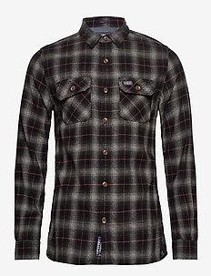 CLASSIC LUMBERJACK SHIRT - rutede skjorter - black check